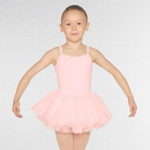 Mirella Diamante Mesh Back Camisole Tutu Leotard