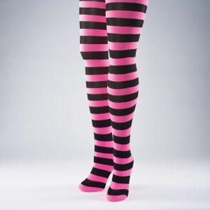 Neon Striped Tights