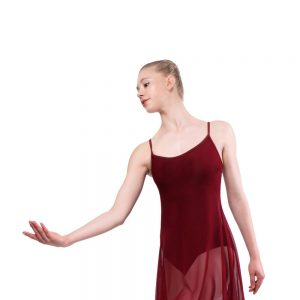 Plume Long Mesh Dress Leotard