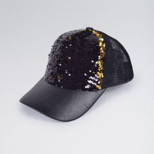 Reverse Sequin Baseball Cap