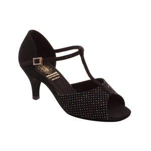 Supadance Classic Latin T-Bar Star Hologram Sandal (Wide Width)