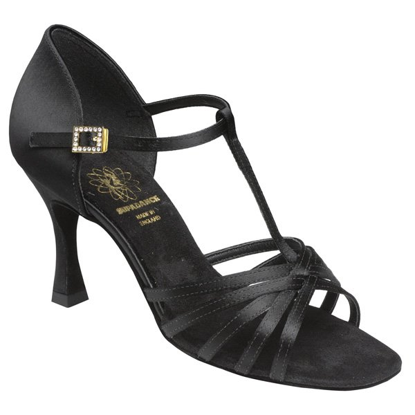 Supadance Latin Satin Sandal With T-Bar