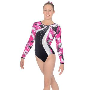 The Zone Carnival Round Neck Long Sleeve Leotard