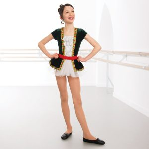 Velour Short Sleeved Sequin Tutu