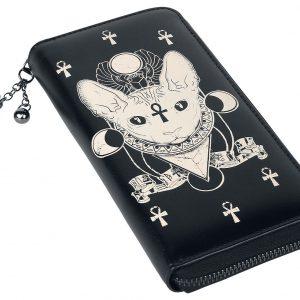 Banned Ankh Cat Wallet black
