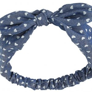 Banned Heart Bow Hairband blue white