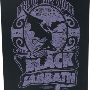 Black Sabbath Lord Of This World Back Patch multicolor