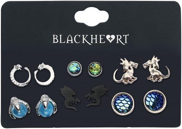 Blackheart Dragon Collection Earring Set multicolour