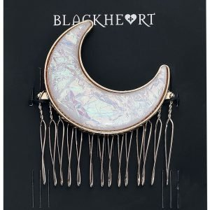 Blackheart Moon Hairslide white gold
