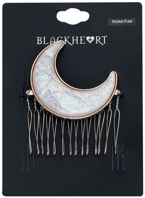 Blackheart Moon Hairslide white gold