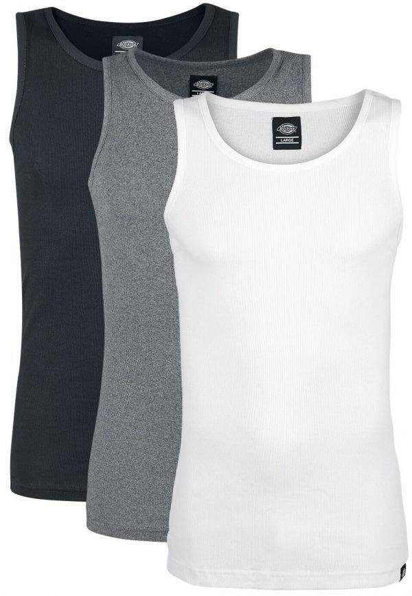 Dickies Proof Multi Colour 3-Pack Tanktop black grey white