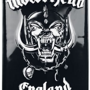 Motörhead England Sheet Metal Signs multicolor