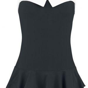 Pussy Deluxe Lovely Collar Swimsuit Swim Dress black