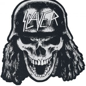Slayer Wehrmacht Skull Patch black white