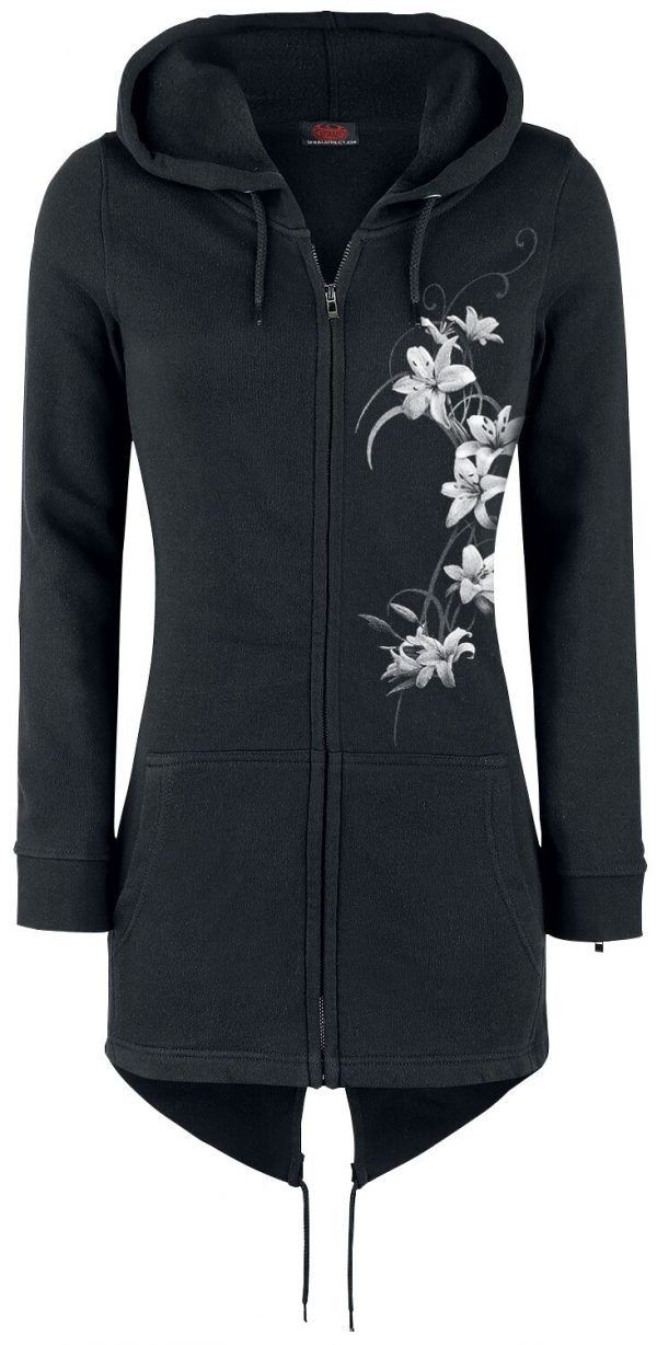 Spiral Pure Of Heart Hooded zip black