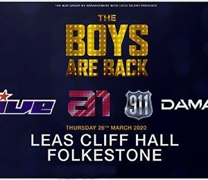 The Boys Are Back 5ive / A1 / Damage / 911 at Leas Cliff Hall