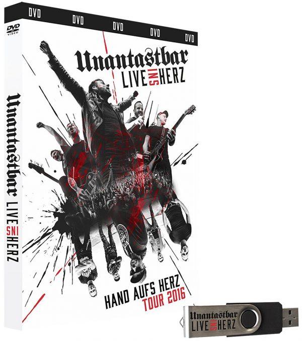 Unantastbar Live ins Herz DVD multicolor