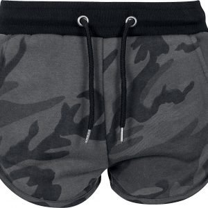 Urban Classics Ladies Camo Hotpants Hot Pants dark camo