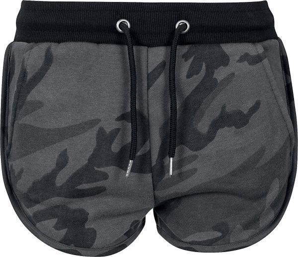 Urban Classics Ladies Camo Hotpants Hot Pants dark camo