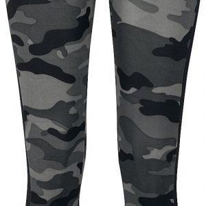 Urban Classics Ladies Camo Stripe Leggings Leggings dark camo black