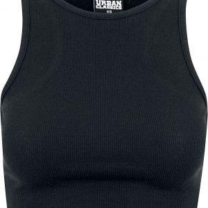 Urban Classics Ladies Cropped Rib Top Top black
