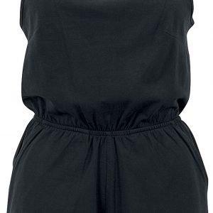 Urban Classics Ladies Short Spaghetti Jumpsuit Jumpsuit black