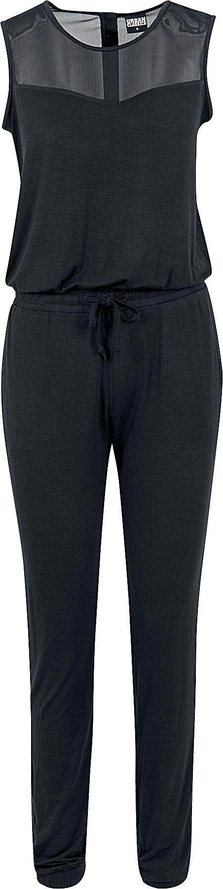 Urban Classics Ladies Tech Mesh Long Jumpsuit Jumpsuit black