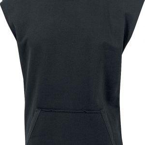 Urban Classics Open Edge Sleeveless Hoodie Hooded sweater black