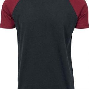Urban Classics Raglan Contrast Tee T-Shirt black burgundy