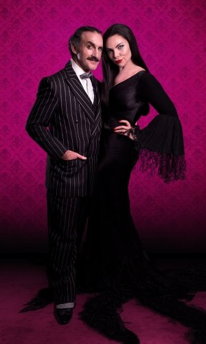 Cameron Blakely as Gomez and Samantha Womack as Morticia - credit Matt Martin