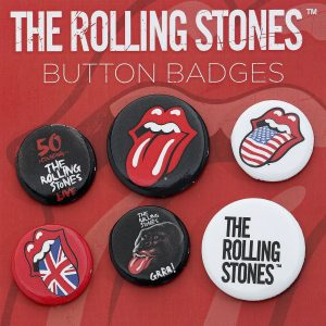 The Rolling Stones Lips Badge Set multicolour