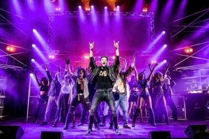 ROCK OF AGES. The Company of Rock of Ages 2018-2019 Tour. Photo Richard Davenport.