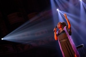 Sharon D Clarke in Tonight at the London Coliseum, credit Danny Kaan.