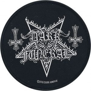 Dark Funeral Circular Logo Patch black white