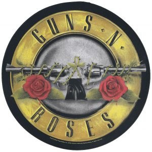 Guns N' Roses Bullet Logo Back Patch multicolour