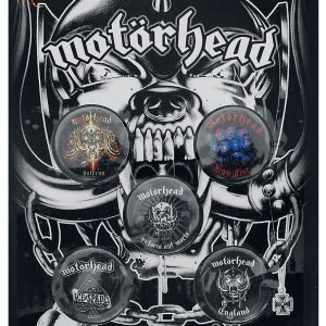 Motörhead England Badge Set multicolour