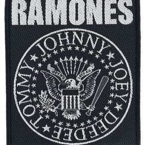Ramones Classic Seal Patch black white