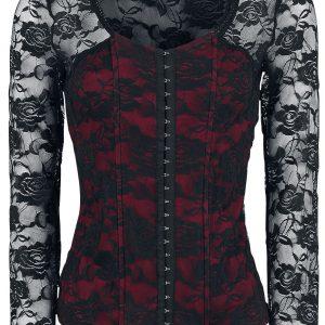 Fashion Victim Victoria Long-sleeve Shirt black bordeaux