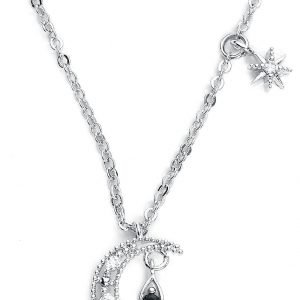 Wildkitten® My Moon and Stars Necklace Necklace silver coloured
