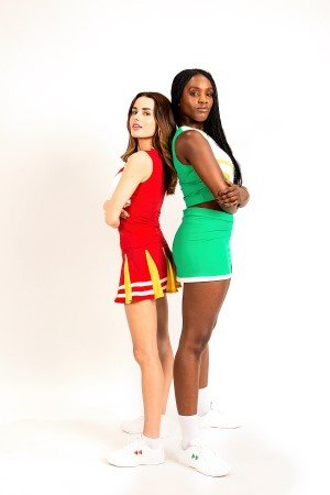 BRING IT ON THE MUSICAL. Amber Davies and Vanessa Fisher. Photo by Standout Photography.