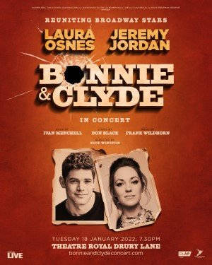 Laura Osnes and Jeremy Jordan reunite for Bonnie and Clyde in Concert
