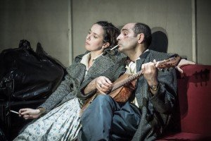 The Two Character Play - Kate O'Flynn and Zubin Varla. Photo by Marc Brenner.
