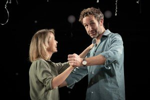 Anna Maxwell Martin and Chris O'Dowd in Constellations at the Vaudeville Theatre, directed by Michael Longhurst. Photo Marc Brenner