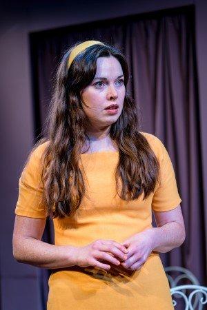 Lianne Harvey (Ginny) in Relatively Speaking by Alan Ayckbourn at Jermyn Street Theatre.