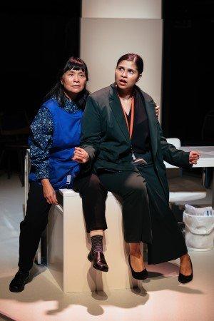 Sarah Lam and Zainab Hasan in RICE by Michele Lee - Orange Tree Theatre and ATC - photo Helen Murray.